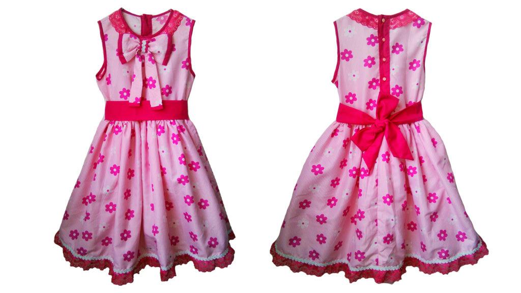 vestido de niña fucsia